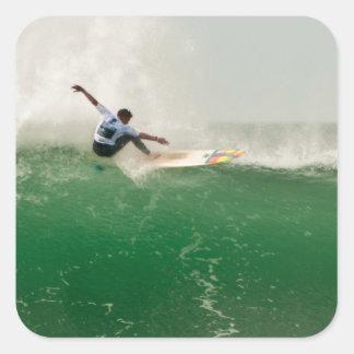 Surfing in Biarritz Square Sticker