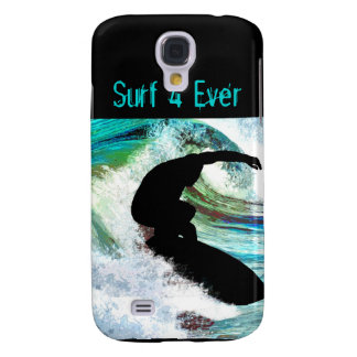 Surfing in Curling Wave Samsung Galaxy S4 Cover