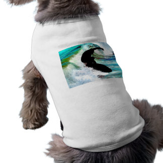 Surfing in Curling Wave Shirt