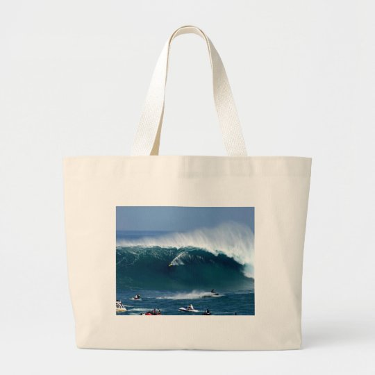 Surfing in Hawaii 2 Large Tote Bag