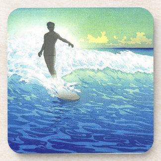 """Surfing in Hawaii"" coasters 1918-1921"