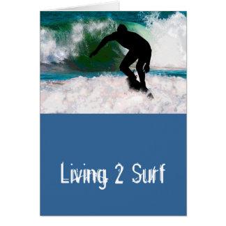 Surfing in Ocean Foam Card