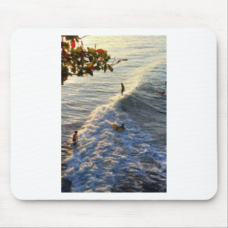 Surfing in paradise mouse pad