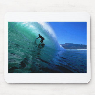 Surfing in the green tube South Africa paradise Mouse Pad