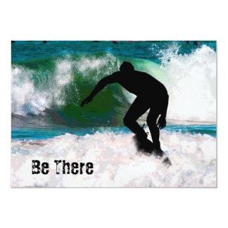 Surfing in the Ocean Foam Card