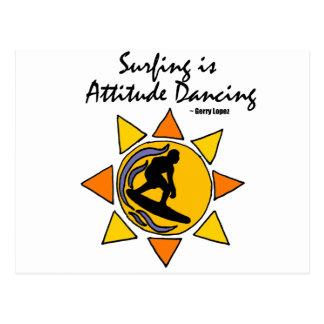 Surfing in the Sun Art Postcard