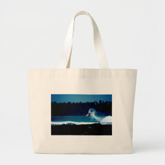 surfing indonesia nias air reverse blowtail tote bag