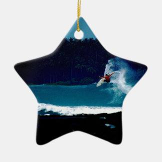 surfing indonesia nias air reverse blowtail ceramic ornament