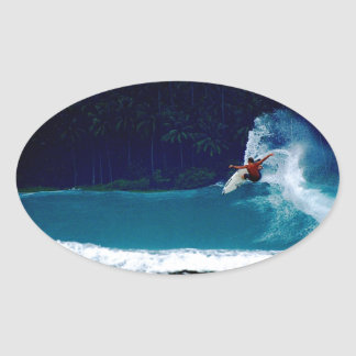 surfing indonesia nias air reverse blowtail oval sticker