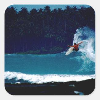 surfing indonesia nias air reverse blowtail square sticker