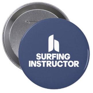Surfing Instructor Pinback Button
