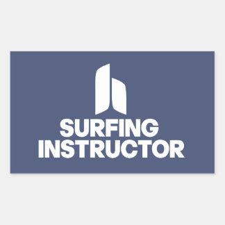 Surfing Instructor Rectangular Sticker
