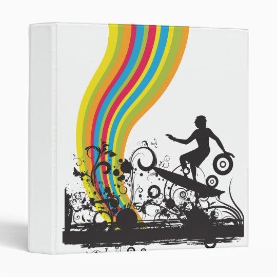 surfing into rainbows 3 ring binder