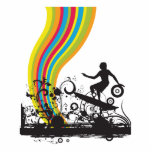 surfing into rainbows photo cut outs