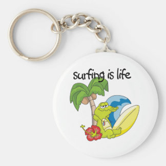 Surfing is Life Keychain