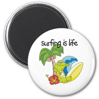 Surfing is Life Refrigerator Magnet