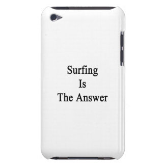Surfing Is The Answer iPod Case-Mate Cases