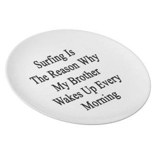 Surfing Is The Reason Why My Brother Wakes Up Ever Party Plates