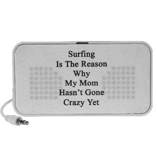 Surfing Is The Reason Why My Mom Hasn't Gone Crazy iPod Speaker