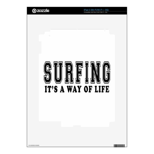 Surfing It's way of life iPad 2 Skins
