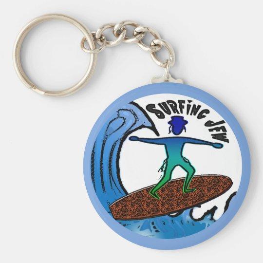 Surfing Jew Keychain