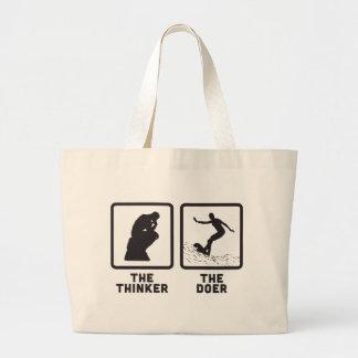 Surfing Jumbo Tote Bag