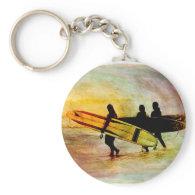 Surfing Keychain