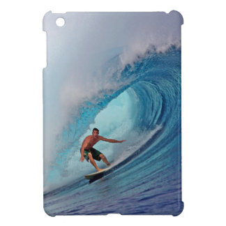 Surfing large blue wave Mentawai Islands iPad Mini Cases