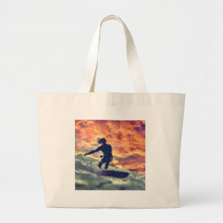 Surfing Large Tote Bag