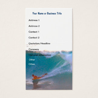 Surfing Lessons Ocean Sports Business Card