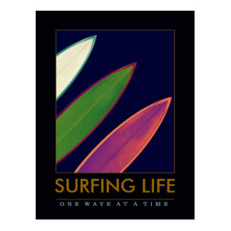 surfing life style postcard