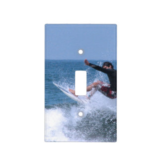 Surfing Light Switch Plate