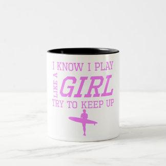Surfing Like A Girl Coffee Mug