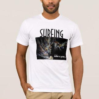 Surfing Like A Pro Basic White T-Shirt
