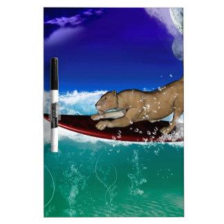 Surfing lion Dry-Erase board