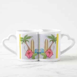 Surfing Love Good Morning Coffee Cups Set