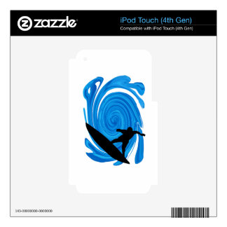 SURFING LOVE OCEAN iPod TOUCH 4G DECALS