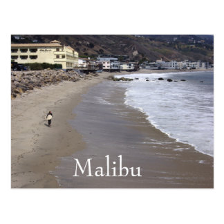 Surfing Malibu California Postcard