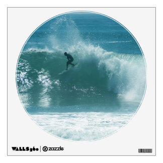 Surfing Malibu Waves Wall Decal