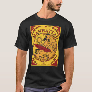 SURFING MANHATTEN BEACH CALIFORNIA T-Shirt