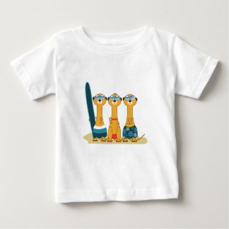 Surfing Meercats Baby T-Shirt