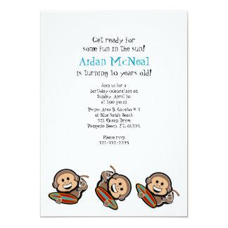 surfing monkey BIRTHDAY PARTY invitation 2