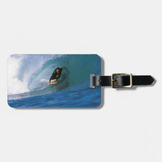 Surfing New Zealand perfect wave Luggage Tag