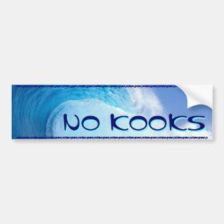 SURFING - NO KOOKS BUMPER STICKER