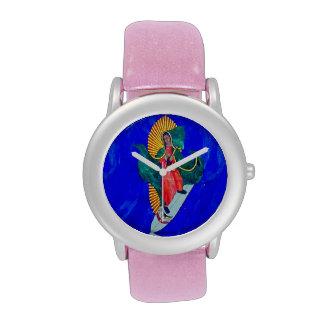 surfing nun blue wave wrist watch