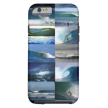 Surfing ocean waves montage iPhone 6 case