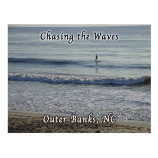 Surfing Outer Banks OBX NC Post Card