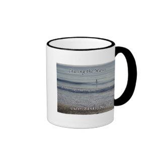 Surfing Outer Banks OBX NC Ringer Mug