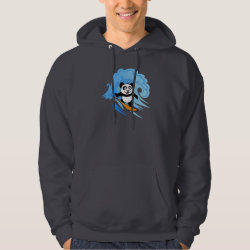 Men's Basic Hooded Sweatshirt with Cute Surfing Panda design