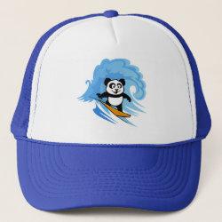 Trucker Hat with Cute Surfing Panda design